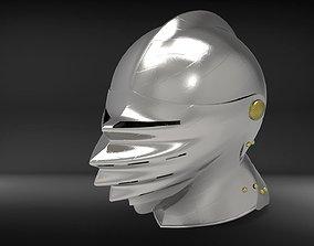 German Close Helmet - Maximilian - Mantelhelm 3D model