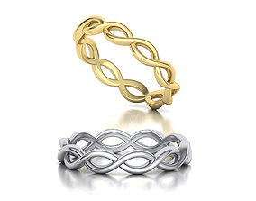 Dainty Braided Ring design 3dmodel many finger