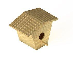 Wooden birdhouse 2 3D model