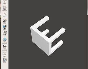 Bench simple 3D Test print model