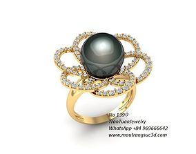 1390 luxury diamond ring 3D print model