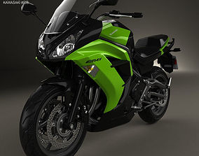 3D model Kawasaki Ninja 650R ER-6f 2014