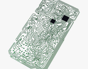 3D asset Electronic circuit board v 2
