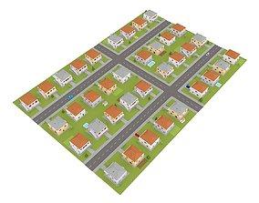 suburb block 3D model