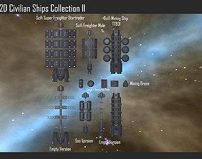2D Civilian Ships Collection II 3D model