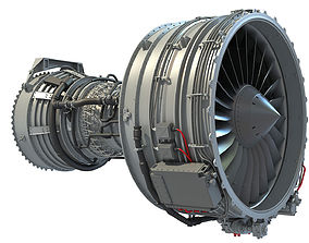 CFM56 Turbofan Aircraft Engine 3D