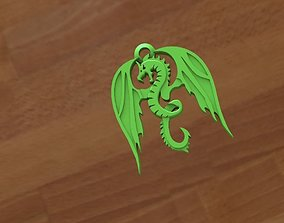 Dragon keychain 3D print model