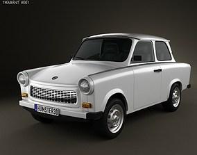 Trabant 601 Sedan 1963 3D