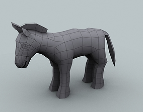 Model for texturing Mule game-ready