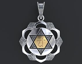 Pendant Symbol of the ANAXATA chakra 3D printable model