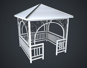 3D asset Alcove White New