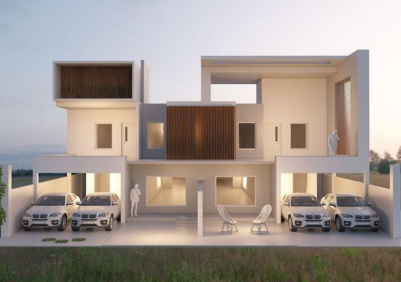 60 x 90 house elevation render