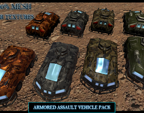 game-ready 3D Armored Assault Vehicle