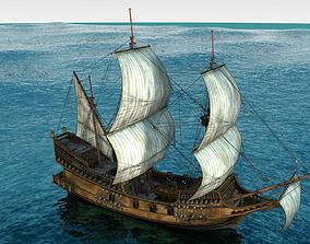 Golden Hind Ship 3D