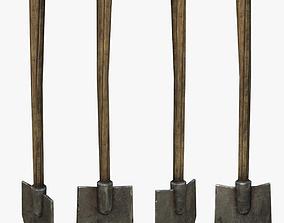 Shovel 3D asset low-poly PBR