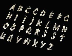 Alphabets Letter Pendants - 31 3D print model