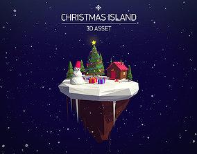 realtime Cartoon Low Poly Christmas Island Asset