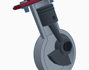 equipment Engine Piston - Mechanical system 3d printed
