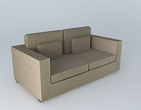 Sofa MILANO taupe 3D model