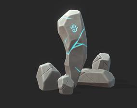 3D model Stylized Rocks with Magic Rune