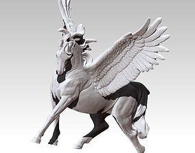 Detailed King Pegasus Flying Winged horse 3D print model 1