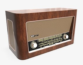 Vintage radio receiver 01 3D