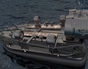 Big Hovercraft design High-Poly 3D model