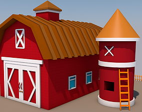 3D asset Barn farm