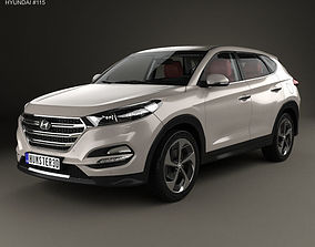 Hyundai Tucson with HQ interior 2016 3D