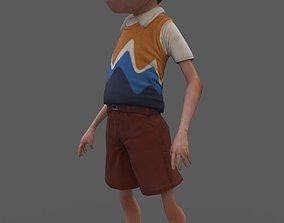 3D model Kids Lowpoly Character