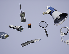 Police Tool Pack 3D asset