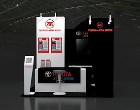 Booth Astra 3x3 3D model