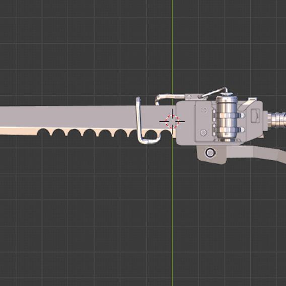 Post-apocalpytic heated-sword