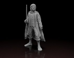 Frodo Baggins Lord of the Ring 3D model Stl file 3D print