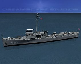 3D model rigged USS PC-865 Subchaser