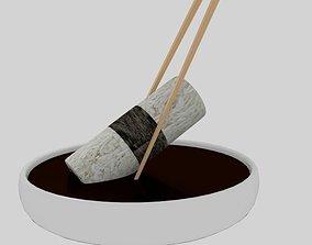 3D asset Chopstick Dip Cylinder Nori Sushi