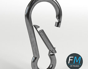 Carabiner cable clip 3D PBR