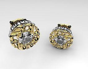 Braided earrings 2 3D print model