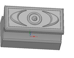 simple-made furniture bracket handle v04 3d-print and cnc