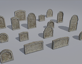 3D model Gravestones pack 8