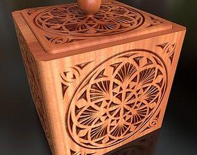 3D model Wood casket