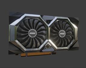 GPU 5600XT video card computer AMD - MSI 3D