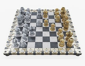 3D model Steampunk chess set