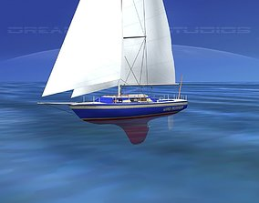 30 Foot Cutter Rigged Sloop V10 3D