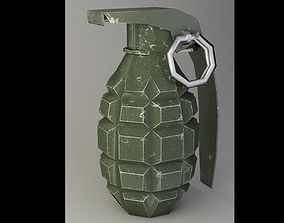 3D model animated grenade F-1 very low-poly