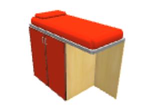 3D model Orange loft bed