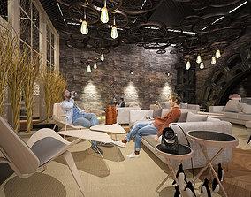 Restaurant Lounge 3D model