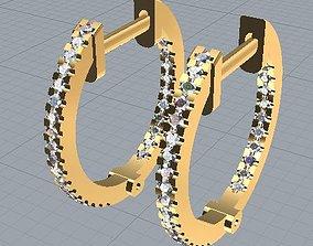 3D print model hoops earrings