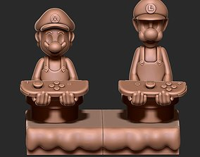 Mario and Luigi Cellphone and Joystick 3D print model
