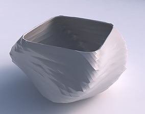 Bowl helix with rocky fibers 3D printable model